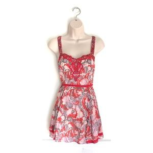 Free People Red Floral Sun Dress